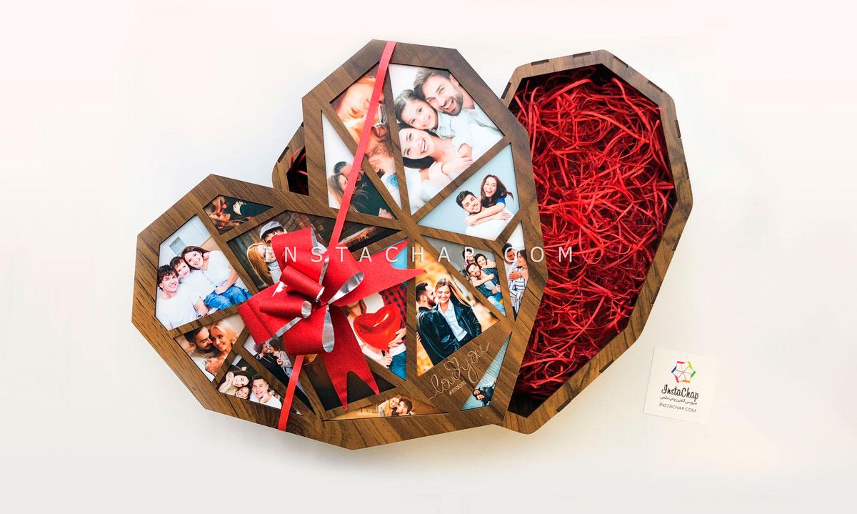 جعبه قلب هندسی بزرگ