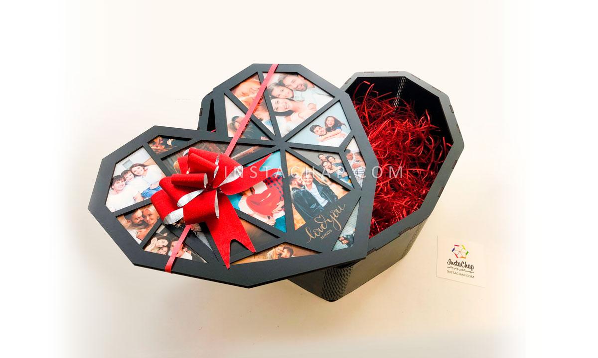 جعبه قلب هندسی کوچک