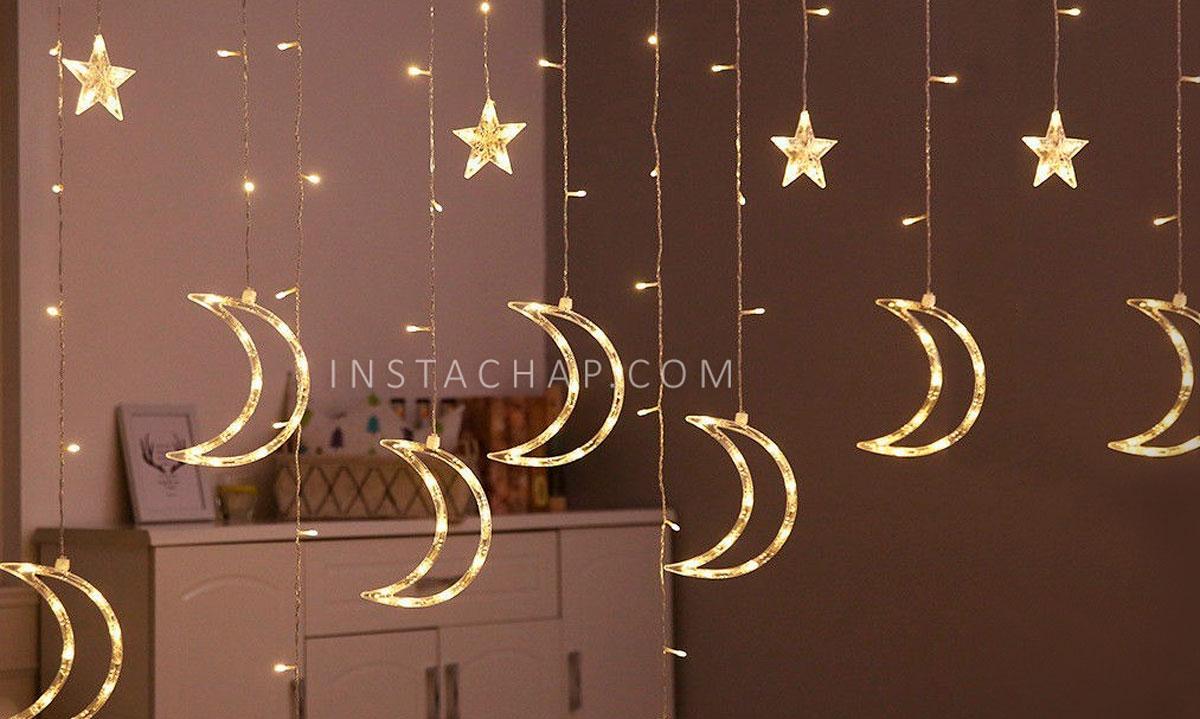 ریسه پرده ماه و ستاره